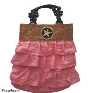 Unique Braciano Coral Ruffle Starfish Handbag